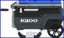 Igloo 70 Qt. Trailmate Roller Cooler, Charcoal/Grey/Blue