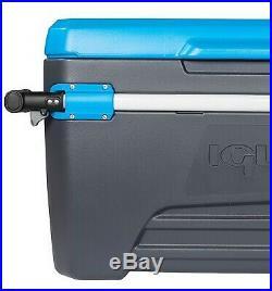 Igloo Big 110 Quart Qt Rolling Cooler Large Ice Chest Telescoping Handle