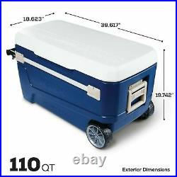 Igloo Glide Roller Cooler, (110 Qt.) 5-day ice retention Oversized rally wheels