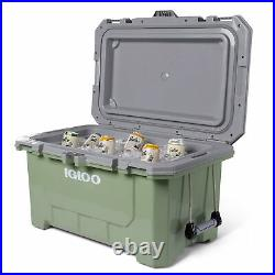 Igloo IMX 70 Quart Injected Molded Construction Cooler, Oil Green (Used)