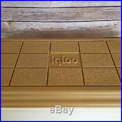 Igloo Kool Rest Car Console Cup Holder Cooler Ice Chest Tan Gold Vintage