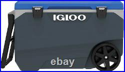 Igloo Latitude 90 Quart Rolling Cooler Hybrid Latches Durable Large Heavy Duty