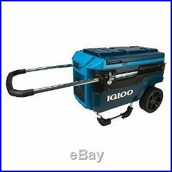 Igloo Trailmate Journey Cooler 70qt Utility Drinks Cart Mobile Portable Cooler