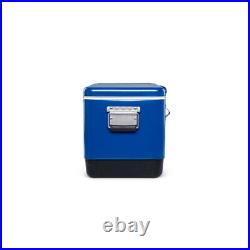 Igloo Ultratherm 54 Quart Modern Steel Legacy Cooler Chest with Handles, Blue