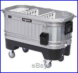 Illuminated LED Igloo Party Bar Cooler Ice Chest 125 Quart storage Heavy Duty