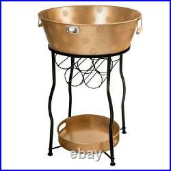 Indoor Outdoor Beverage Cooler 30 Gal. Leak-Proof Galvanized Steel Tub Stand