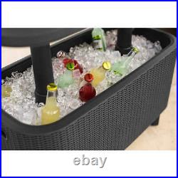 KETER Bevy Bar Table and Cooler COMBO, Gray (0659)