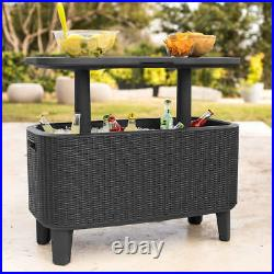 KETER Bevy Bar Table and Cooler COMBO, Gray (0742)