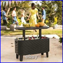 Keter Bevy Party Bar Table and Outdoor Cooler Combo @@