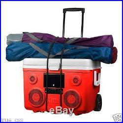 KoolMax Rechargeable Portable 3500W Bluetooth Speaker 40 Qt Cooler (Red)