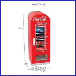 Koolatron Coca-Cola Official Design Push Button Vending Machine Mini Fridge