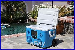 Koolmax Tunes2Go 40 Quart Cooler w Stereo and Bluetooth Audio Speakers CA-E065A