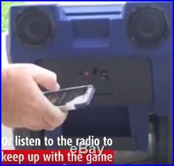 LARGE Denver Broncos COOLER Remote Control Wheels Headlights Speakers 30 Cans