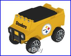 LARGE Pittsburgh Steelers AUTO RETRIEVE COOLER Remote Control Speakers 30 Cans