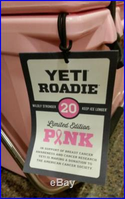 LIMITED EDITION EXTREMELY RARE! Yeti Pink Roadie 20 Qt Brand New