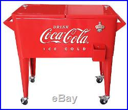 Leigh Country 80 Qt. Coca-Cola Embossed Ice Cold Cooler