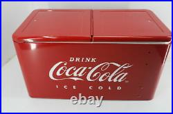 Leigh Country CP 98105 60 Qt Coca Cola Ice Cold Embossed Cooler Coke Logo Red