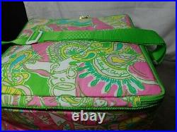 Lilly Pulitzer Chin Chin Elephant soft sided square beach cooler + Napkins, Ball
