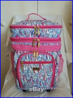Lilly Pulitzer Rolling Cooler Red Right Return