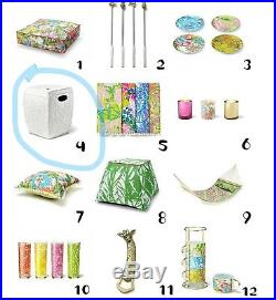 Lilly Pulitzer for Target. A Set of 2 Ceramic Bamboo stem White Garden Stools