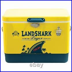 Margaritaville 54 Quart Steel Portable Cooler with Bottle Opener Landshark