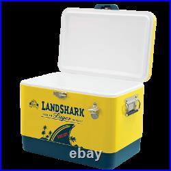 Steel Cooler yellow very strong Margaritaville Landshark 54-Qt