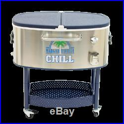 Margaritaville Margaritaville Rolling Oval Stainless Steel Cooler, 77 qt. Mar