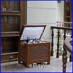 Merry Products 54.9 Qt. Outdoor Wooden Patio Cooler