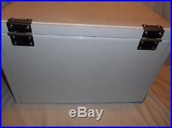 Miller Lite Beer Steel Cooler w White Wood Top Retro Ice Chest NEW Tailgate
