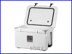 Monoprice Emperor 50 Liter Cooler Securely Sealed White Pure Outdoor