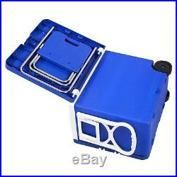 Multi Function Rolling Cooler With Table And 2 Chairs Fishing Picnic Camping US