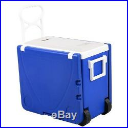 Multifunction Rolling Picnic Cooler with Table And 2 Chairs Camping Outdoor US