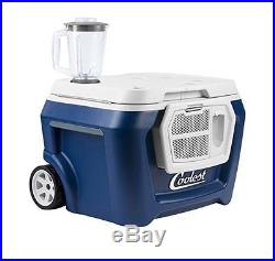 NEW COOLEST COOLER Blue Moon BUILT IN BLENDER USB Charger BLUETOOTH TAILGATE