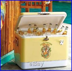 NEW HUGE Frontgate Margaritaville Hula Girl Stainless Cooler Ice Chest LTD ED