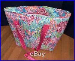 NEW Lilly Pulitzer Lets Cha Cha Portable Cooler Insulated Drink Bag Party