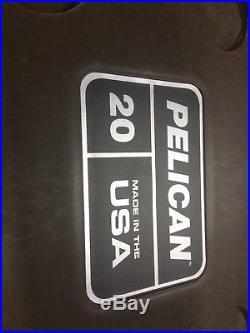 NEW Pelican 20Q-2-BRNTAN 20QT Elite Cooler Brown/Tan 20QTBRTN