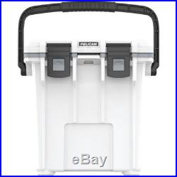 NEW Pelican Products 20Q-1-WHTGRY 20 Quart Elite Cooler, White/Grey COOLER SALE
