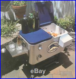 NEW TOMMY BAHAMA RELAX 100 QUART STAINLESS STEEL PATIO COOLER ICE CHEST COOLER