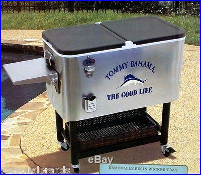 New Tommy Bahama 100 Quart Stainless Patio Cooler Ice