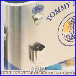 NEW Tommy Bahama 100 Quart Stainless Patio Cooler Ice Chest Cooler 130 Can Tray