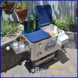 NEW Tommy Bahama 100 Quart Stainless Steel Rolling Cooler - All $$ 4 Charity