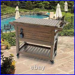 NEW Tommy Bahama 100 Quart Wood Rolling Cooler FREE SHIPPING