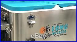 NEW Tommy Bahama Long Weekend 100 Quart Stainless Steel Patio Ice Chest Cooler