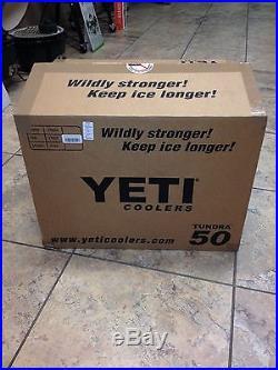 NEW! YETI Tundra 50 Quart Cooler Tan
