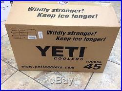 NEW! YETI Tundra Cooler 45 Quart Blue