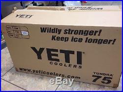 NEW! YETI Tundra Cooler 75 Quart Tan