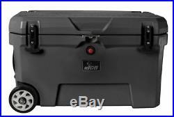 NICE 52-qt. Wheeled Cooler Charcoal