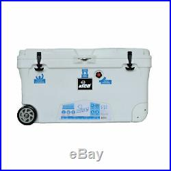 NICE G3 CLF-517790 110 Quart High Performance Roto Molded Wheeled Cooler, White