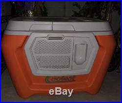 NWOB Orange COOLEST COOLER BLENDER Bluetooth Speaker LED Light KICKSTARTER