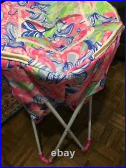 NWT Lilly Pulitzer Cooler Stand Havana Cocktail Drinks with Carrying Case PINK